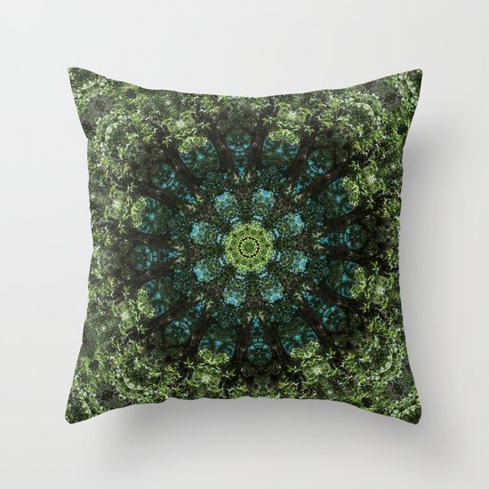 Quot Forest Guardians Quot Mandala Throw Pillow By Elias Zacarias