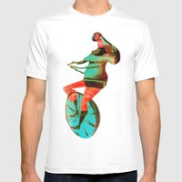 BUNNY HOP Mens Fitted Tee White SMALL