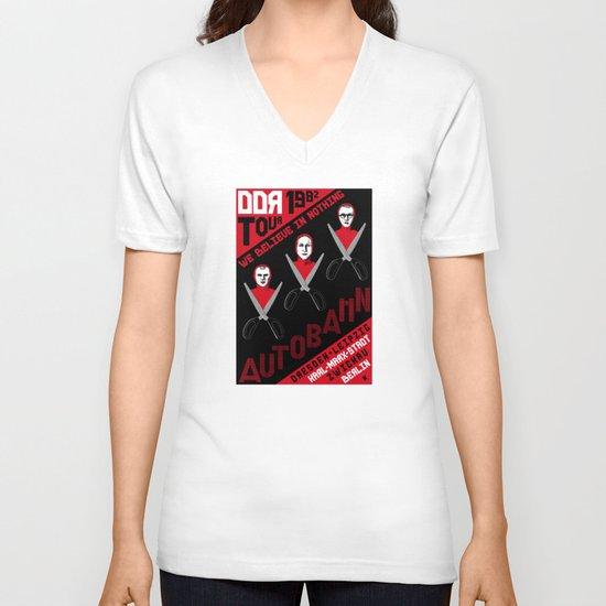 Autobahn--East German Tour 1982 V-neck T-shirt