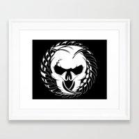 Skull Head Two Framed Art Print