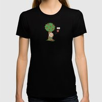 Gravity is a lie Womens Fitted Tee Black SMALL