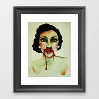Bout With Blood Framed Art Print