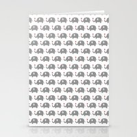 Elephants in love (white) Stationery Cards