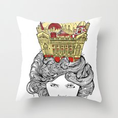 The Queen of Montreal Throw Pillow