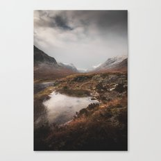 Frozen Mountains Canvas Print
