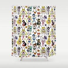 Kawaii Sailor Senshi Doodle Shower Curtain