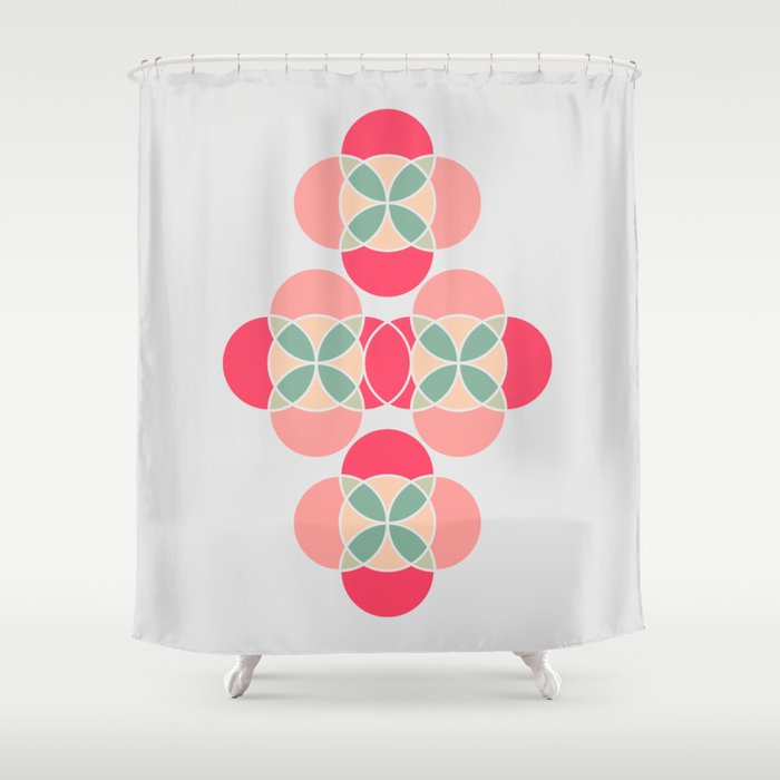 abstract geometric art shower curtain by marina 39 s map