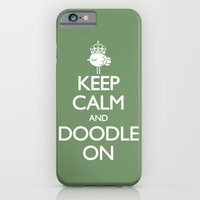 iPhone & iPod Case featuring Keep Calm & Doodle On (Green) by wanton doodle