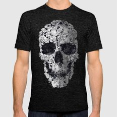 Doodle Skull Mens Fitted Tee Tri-Black SMALL