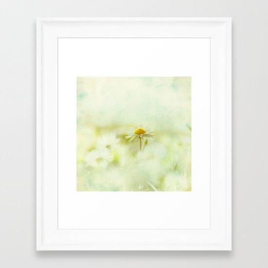 Lone Daisy Framed Art Print