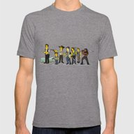 The Walking Dead Cast Mens Fitted Tee Tri-Grey SMALL