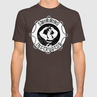 Swimming instructor Mens Fitted Tee Brown SMALL