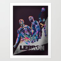 Lebron James NBA Illustration serie 3 of 3 Art Print