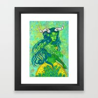 Taurus: The Quiet Achiever (Apr 21 - May 21) - ORIGINAL GOUACHE Framed Art Print