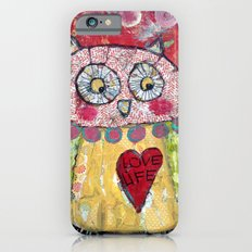 Whimsical Owl print, love life Slim Case iPhone 6s