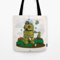 Monster robot toy Tote Bag