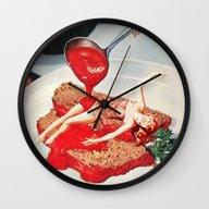 Wall Clock featuring 350 Fahrenheit by Eugenia Loli