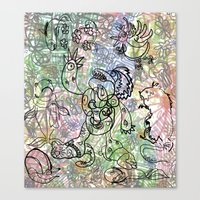 Anymanimals+Whatlifethrowsatyou    Nonrandom-art1 Canvas Print