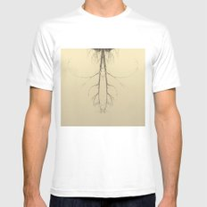 branches#05 Mens Fitted Tee SMALL White