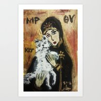 OUR LADY OF CATS 2 Art Print