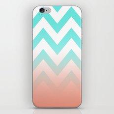 TEA CHEVRON CORAL FADE iPhone & iPod Skin