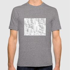 Metropolis Mens Fitted Tee Tri-Grey SMALL