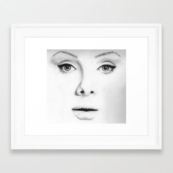 Adele (Face Number 4) Framed Art Print