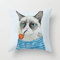 Sailor Cat I Throw Pillow