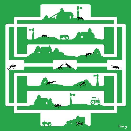 ant farm Art Print
