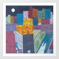 Seoul City #4 Art Print