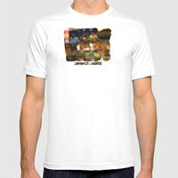 Summer Night Lights Mens Fitted Tee White SMALL