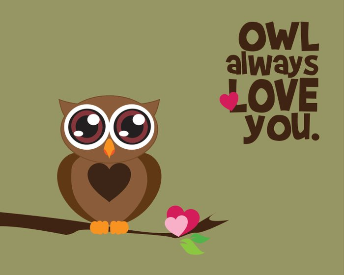 owl always love you Art Print by Red.lime Art&design ...