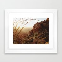 Desert Sunset Trail Framed Art Print