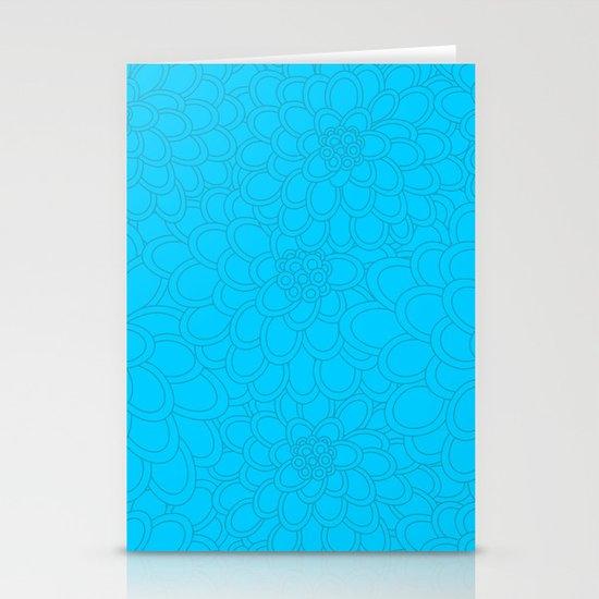 Flowers tone on tone.  Stationery Card