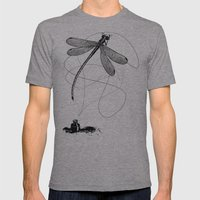 Here, There & Back Again… Mens Fitted Tee Athletic Grey SMALL
