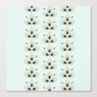 Mint Blossoms Canvas Print