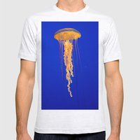 He moves from point to point with as little uproar as a jellyfish. --Plum Mens Fitted Tee Ash Grey SMALL