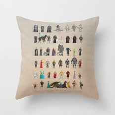 The Pixel Game of Pixel Thrones Throw Pillow