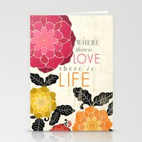 Where There Is Love Ther… Stationery Cards
