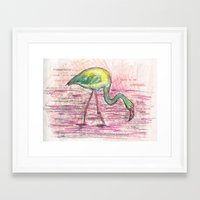 Dare to be different, Flamingo Framed Art Print