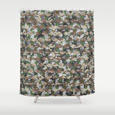 CUBOUFLAGE MULTI (SMALL) Shower Curtain