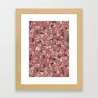 A1B2C3 coral red Framed Art Print