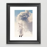 Majestic Smoke Pollution Framed Art Print