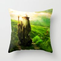 Gandalf's Return - Painting Style Throw Pillow