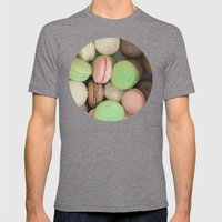 French Macaroons Mens Fitted Tee Tri-Grey SMALL