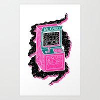 BLK HOLE Art Print