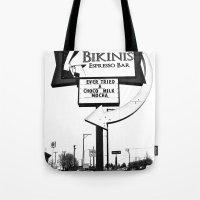 Bikinis Espresso Tote Bag