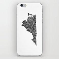 Typographic Virginia iPhone & iPod Skin