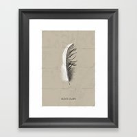 Black swan poster Framed Art Print