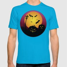 Spooky Halloween 6 Mens Fitted Tee Teal SMALL